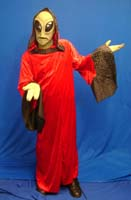 Green Alien Red Robe Costume